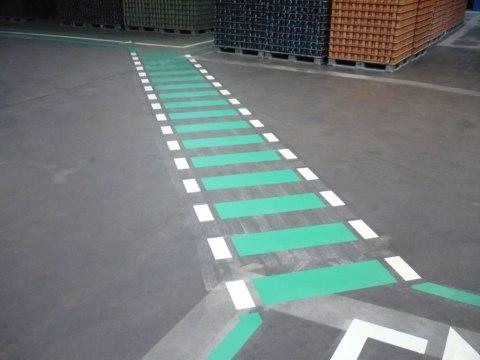 Fußwegmarkierung